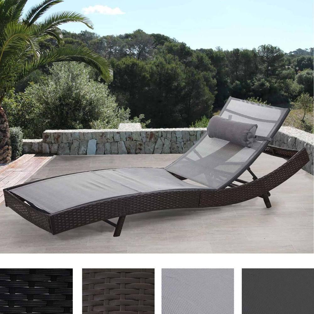 Poly Rattan Sonnenliege Savannah Relaxliege Gartenliege Liege Ebay Sonnenliege Liege Garten Gartenliege