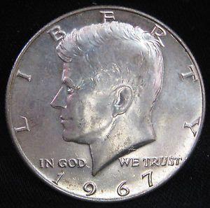 kennedy half dollar 1965 to 1969