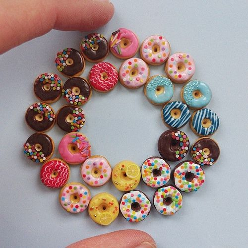 Rolling sweetness. #miniature #donuts #Miniatureart #miniaturefood #polymerclay | Flickr - Photo Sharing!