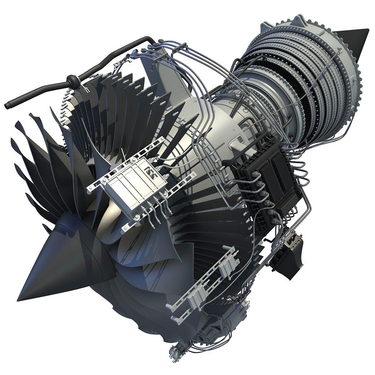 Mini Turboprop Engine: 3D Aircraft Jet Turbofan Engine Model