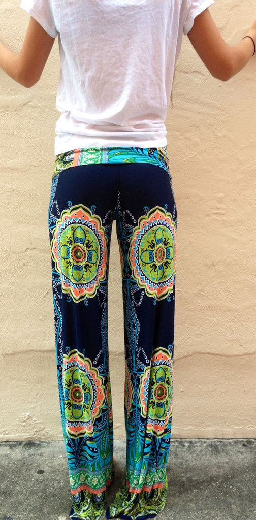 aaad12ae4abd1 Amazing floral design casual summer pants