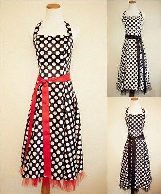 50's Polka Dot Halter Dress Rockabilly Swing Vintage Pinup Retro