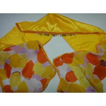 Lenço Cabeça Cigano amarelo/estampa - Maria Bonita Official