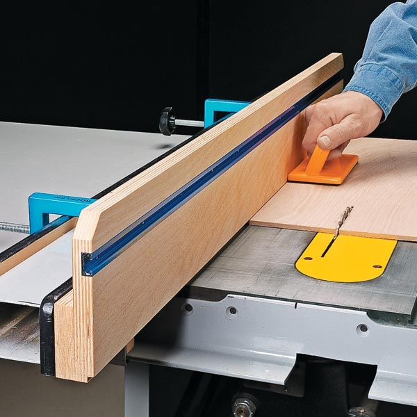 Build An Auxiliary Rip Fence For Your Table Saw With A Built In Track To Hold Feather Board