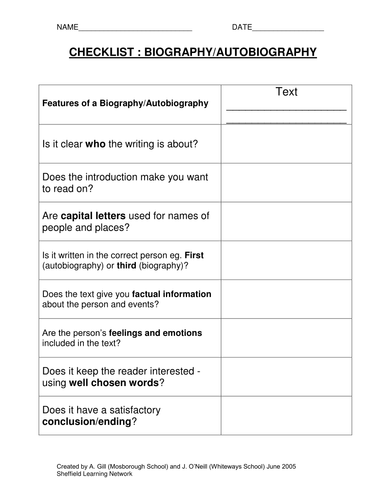 Biography checklistc literacy pinterest teacher literacy biography checklistc altavistaventures Images