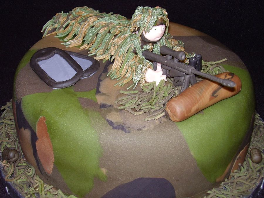 Sniper With Ghillie Suit Made for my nephew's birthday. I wasn't even sure what a ghillie suit was before this. Evreything is...