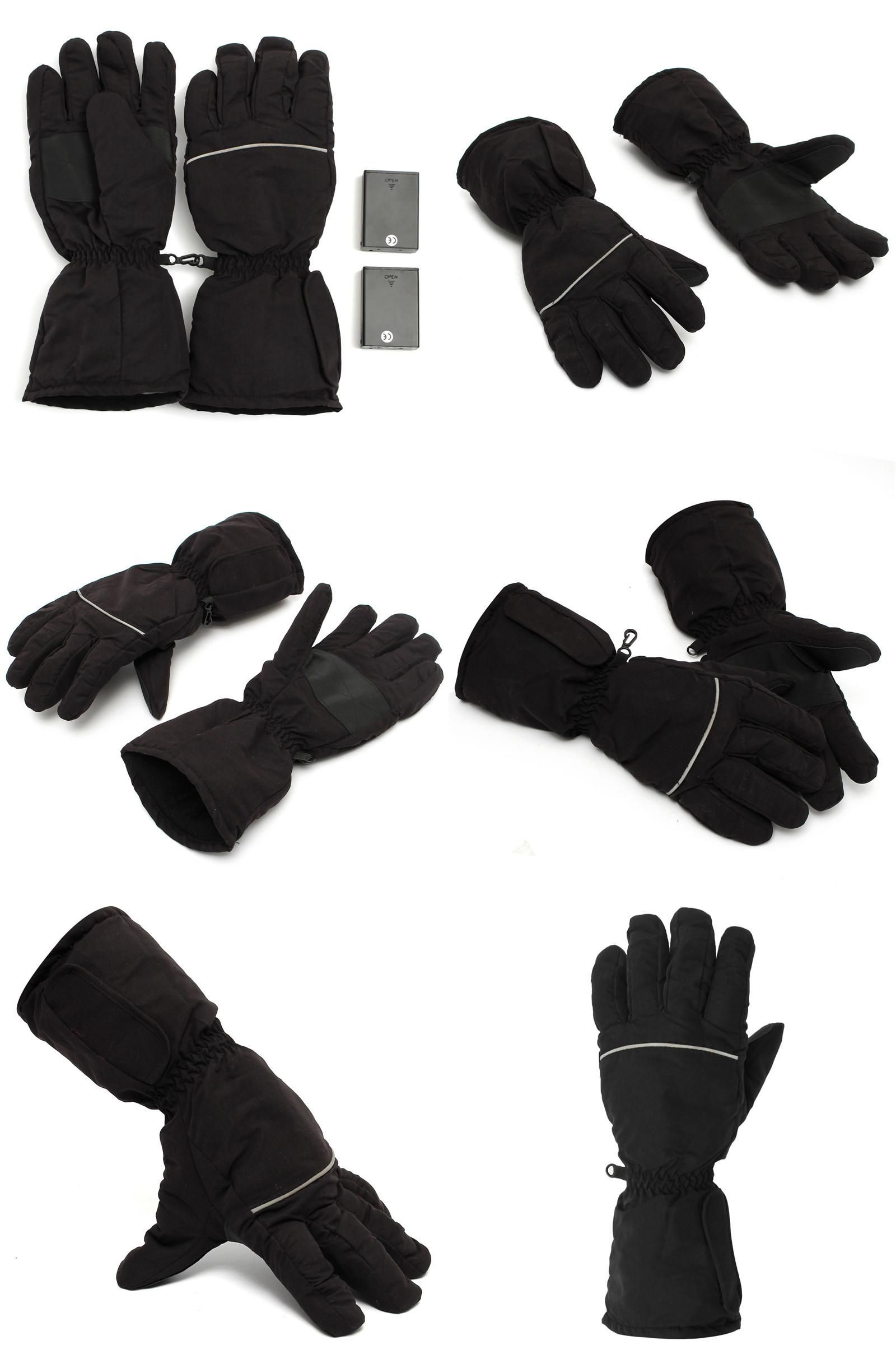 Visit To Buy New Stylish Black Electric Heating Gloves Battery Powered For Outdoor Motorcycle Hunting Winter Hand Warm Hand Warmers Hand Warmer Gloves Gloves