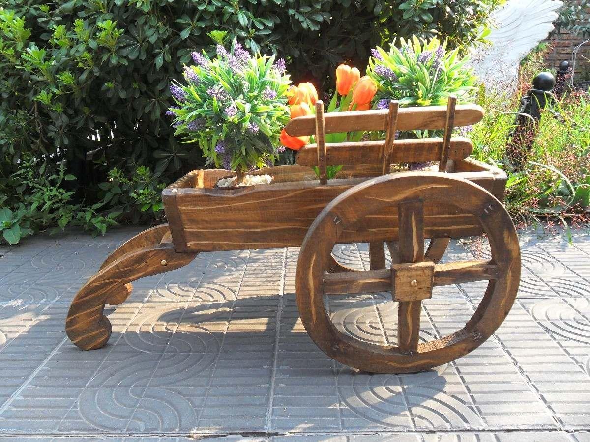 Carretillas porta macetas buscar con google modelos a for Decoracion jardin madera