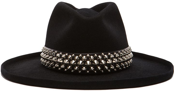 13ce514915a Gladys Tamez Millinery The Johnny Hat with Studded Band in Black ...