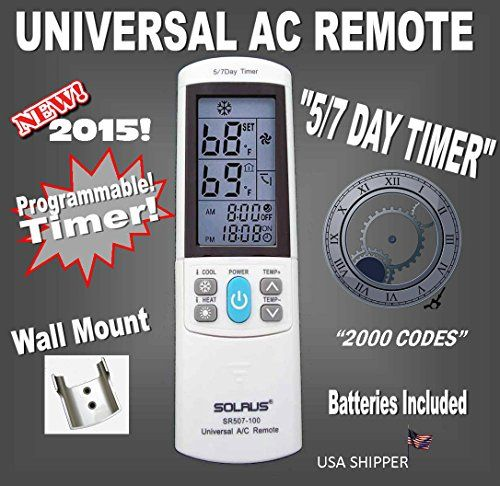 Universal Ac Remote Control Replacement For Airwell Alpin