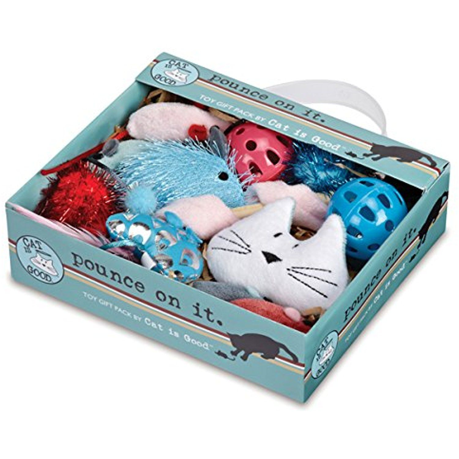 "Cat Is Good 12 Piece ""Pounce on It"" Gift Pack ** You can"