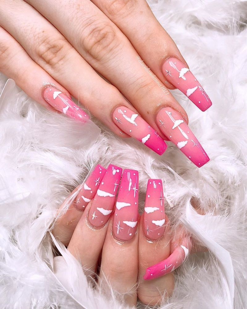 34 Pretty Cloud Nail Art Designs You Must Try Simple Nails Cute Nail Art Designs Pretty Acrylic Nails
