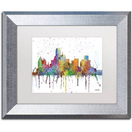 Trademark Fine Art Dallas Texas Skyline Mclr-1 inch Canvas Art by ...