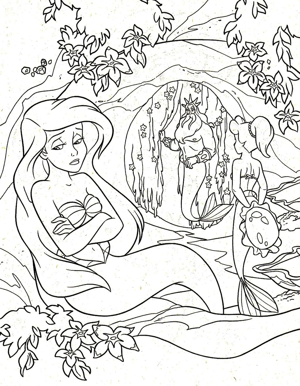 Princess Ariel Sad Coloring Page | Princess Ariel | Pinterest ...