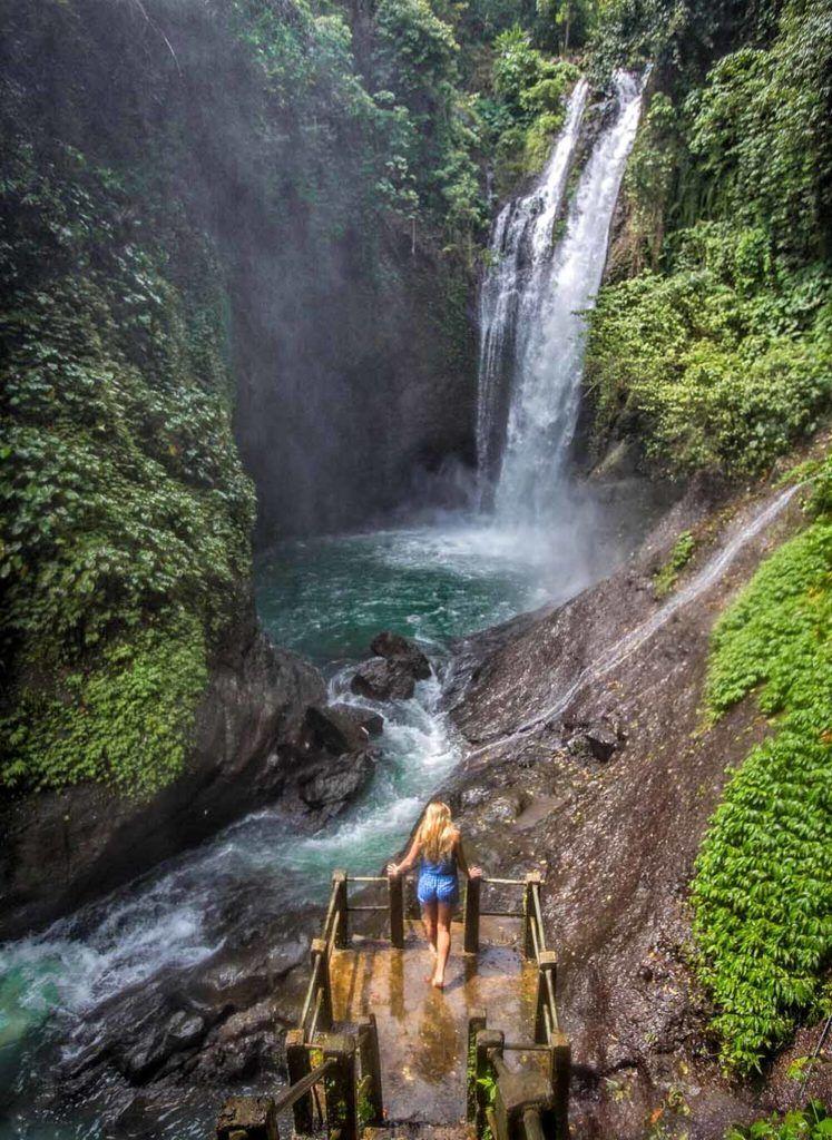 Aling aling waterfall tour Bali Java Adventure Trail