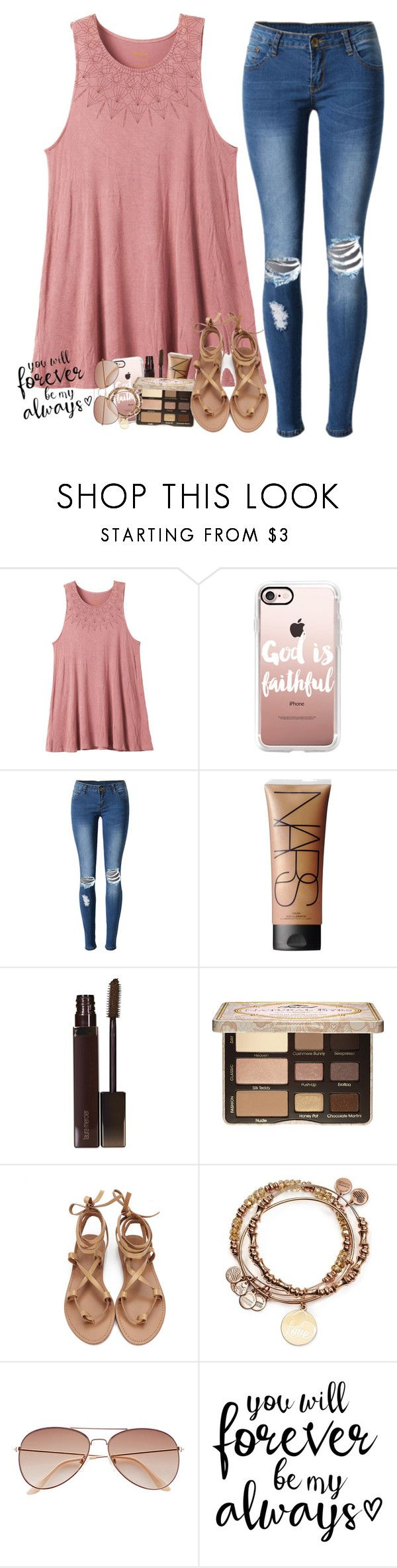 """""""It started on a weekend in May"""" by labures on Polyvore featuring RVCA, Casetify, WithChic, NARS Cosmetics, Laura Mercier, Too Faced Cosmetics, Alex and Ani and H&M"""