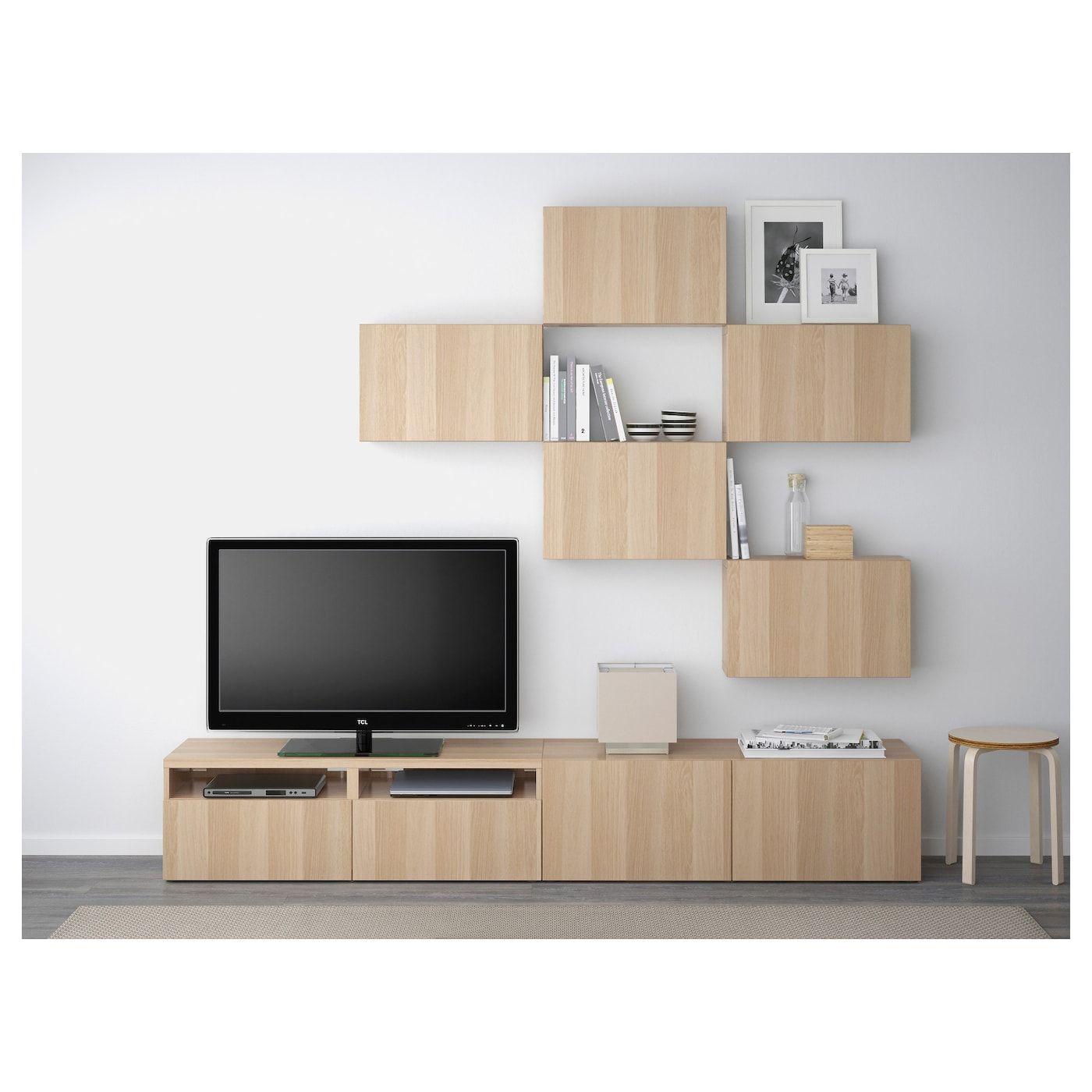 Besta Tv Mobel Kombination Lappviken Eicheneff Wlas Ikea Osterreich Tv Mobel Wohnzimmer Tv Und Wohnen Und Leben