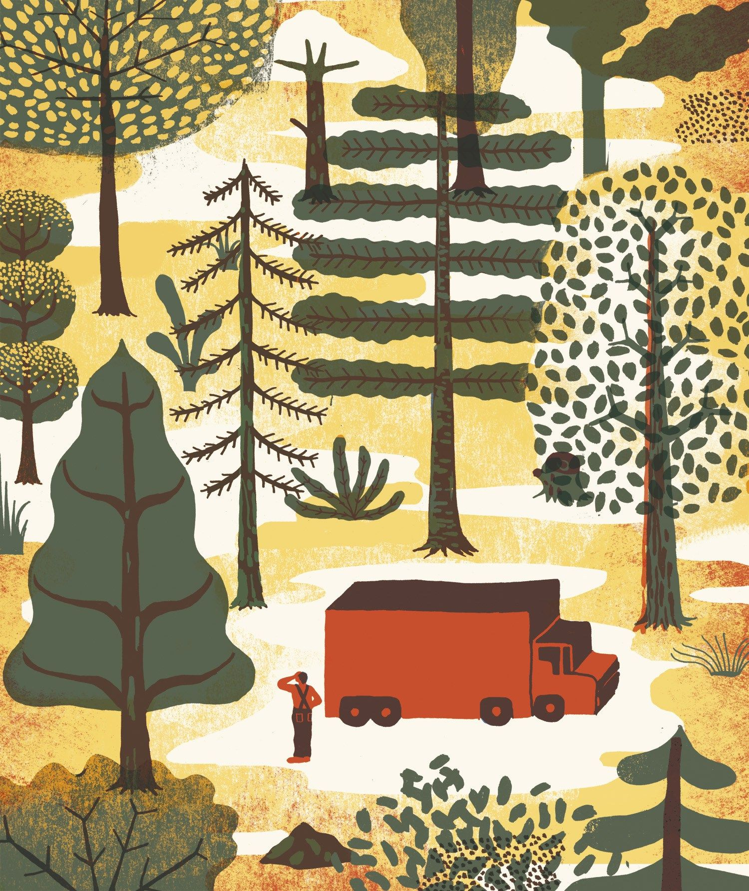 Really nice style from illustrator Sarah Mazzetti, spotted her work on the website for the Green Man music festival.
