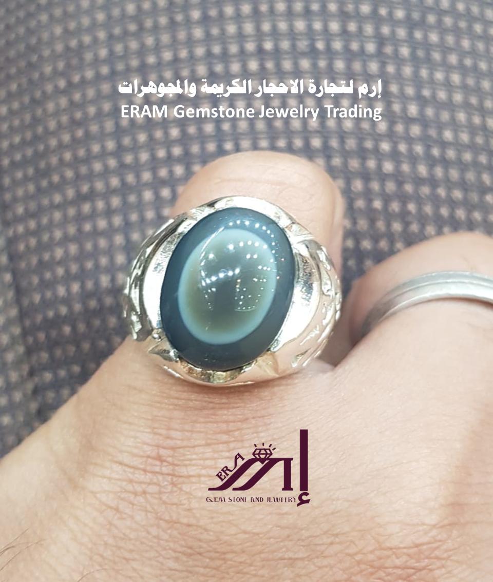 العقيق اليمني السليماني الملون مجوهرات الفاخرة خاتم مميز طبيعي100 Agate للعرض Gemstones Gemstone Jewelry Jewelry