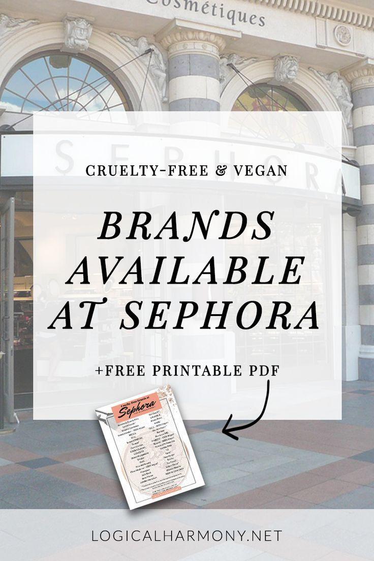 CrueltyFree Brands at Sephora (Updated for 2020 Sephora