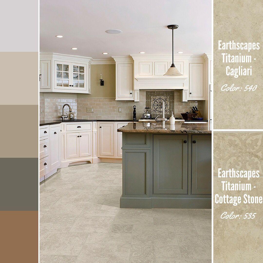 Details make the design in this kitchen featuring vinyl