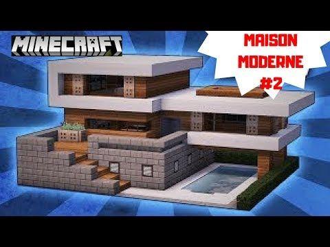 Minecraft Tuto Construire Une Maison Moderne 2 Maison