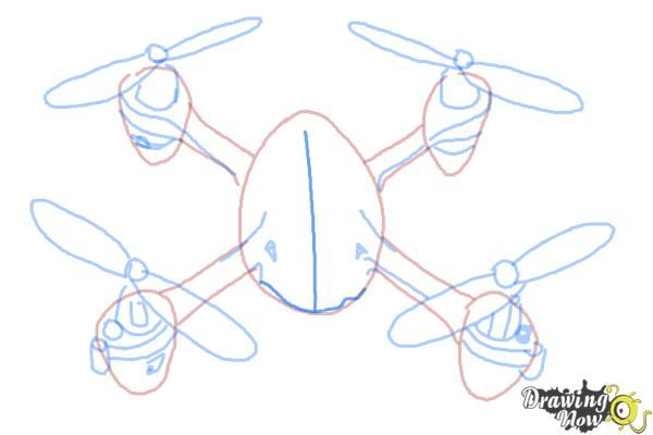 How To Draw A Drone Step 8 Drawings Drawing Lessons For Kids Drone