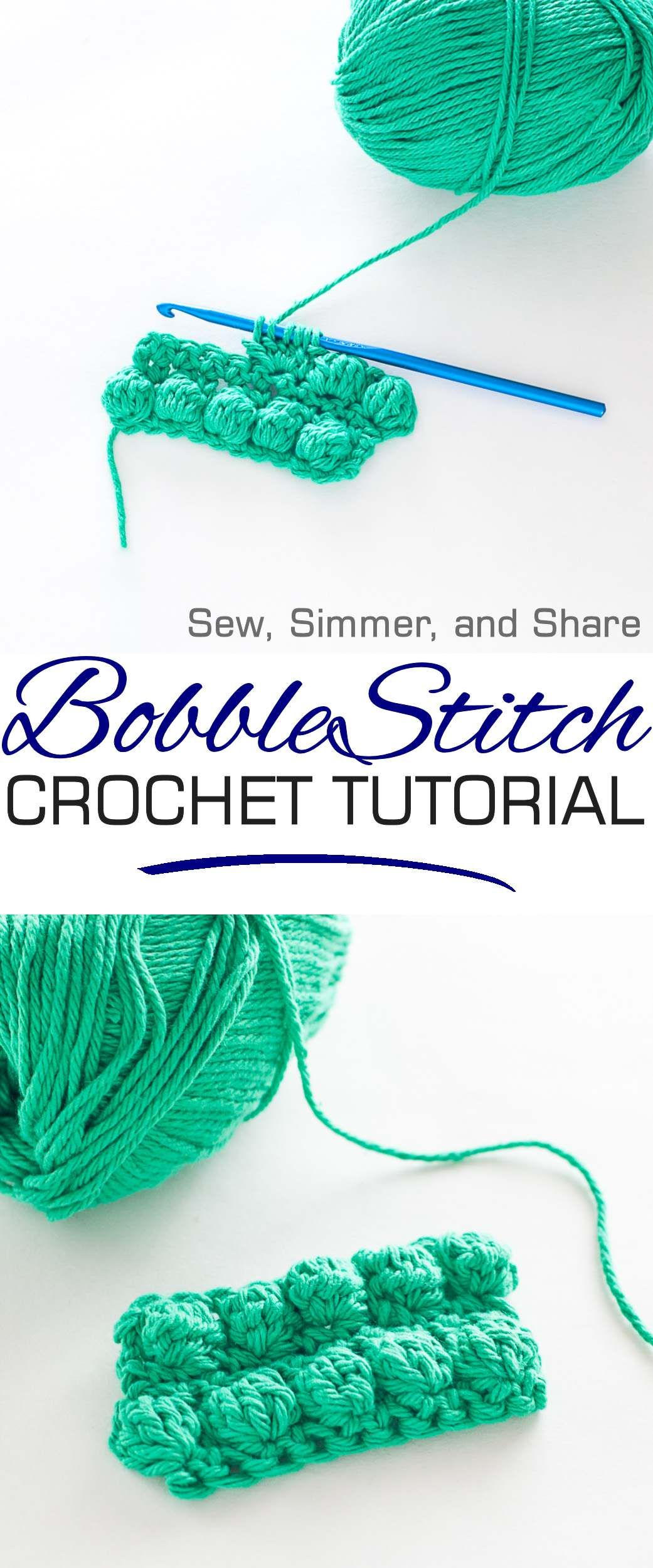How to Crochet the Bobble Stitch | Yarn | Pinterest | Bobble stitch ...