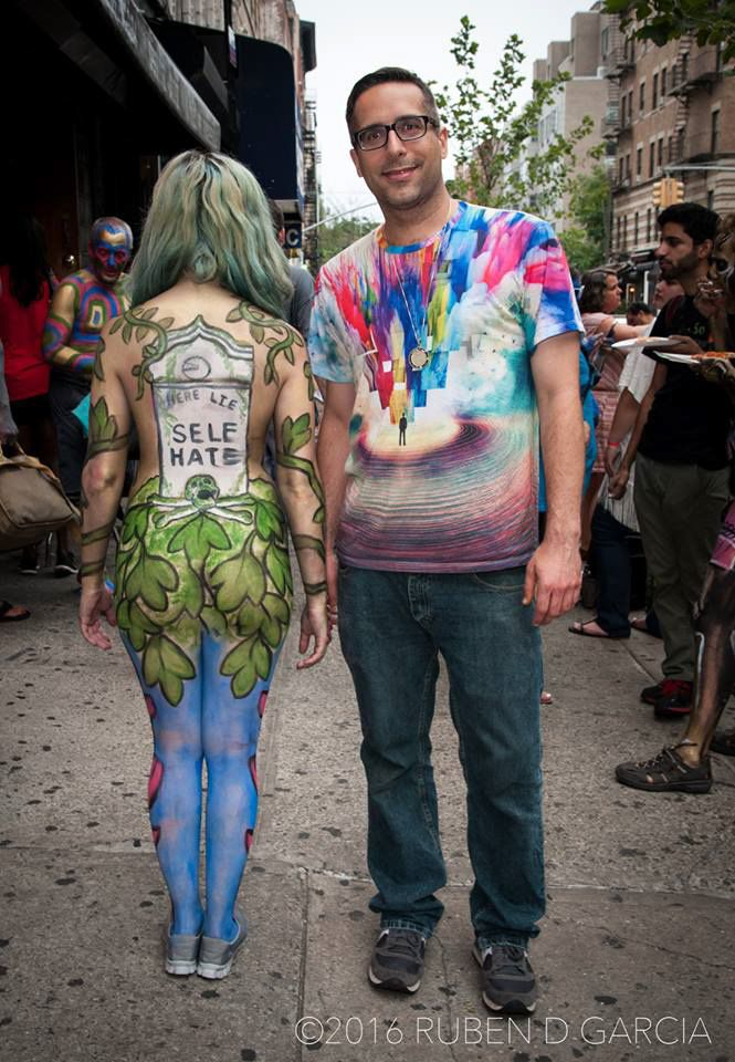 NYC Body Painting Day 2015   There was outdoor body