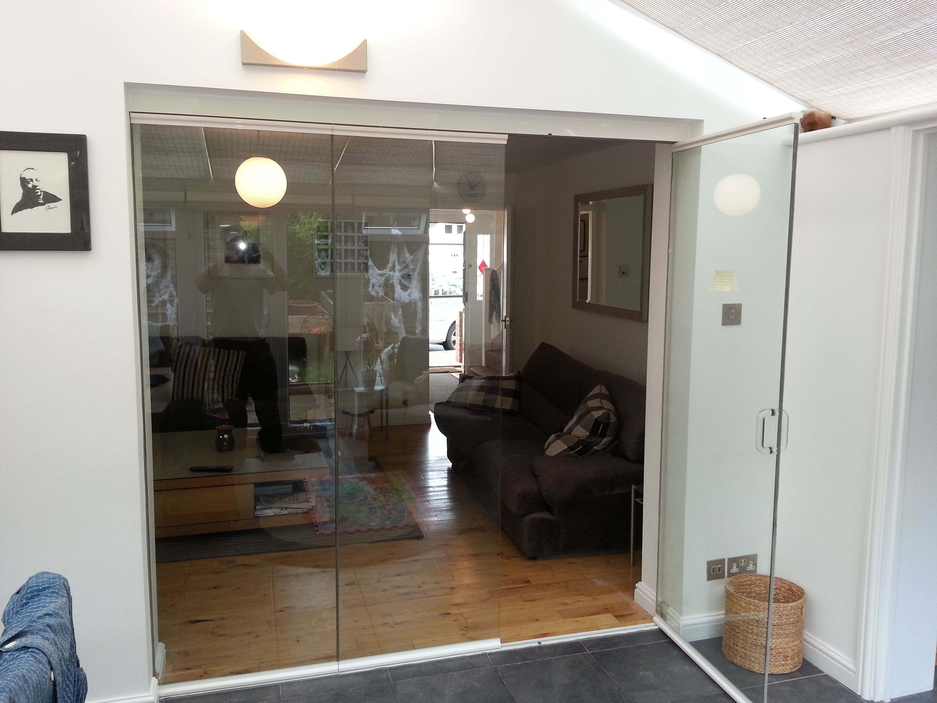 Internal Frameless Glass Bifold Doors Glass Doors Pinterest