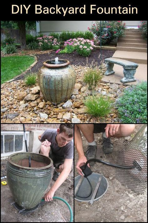 DIY Backyard Fountain | Water Fountains Outdoor Landscaping | Front Of House Landscape Ideas | Small Landscaping Ideas | Trampoline Landscape Ideas | ...