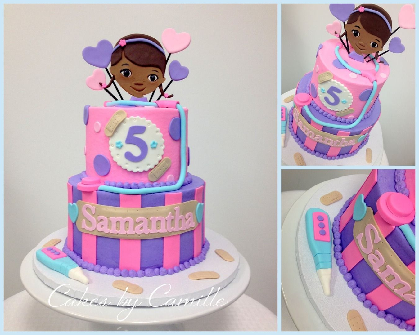 Outstanding Doc Mcstuffins Birthday Cake Cakes By Camille With Images Doc Personalised Birthday Cards Bromeletsinfo