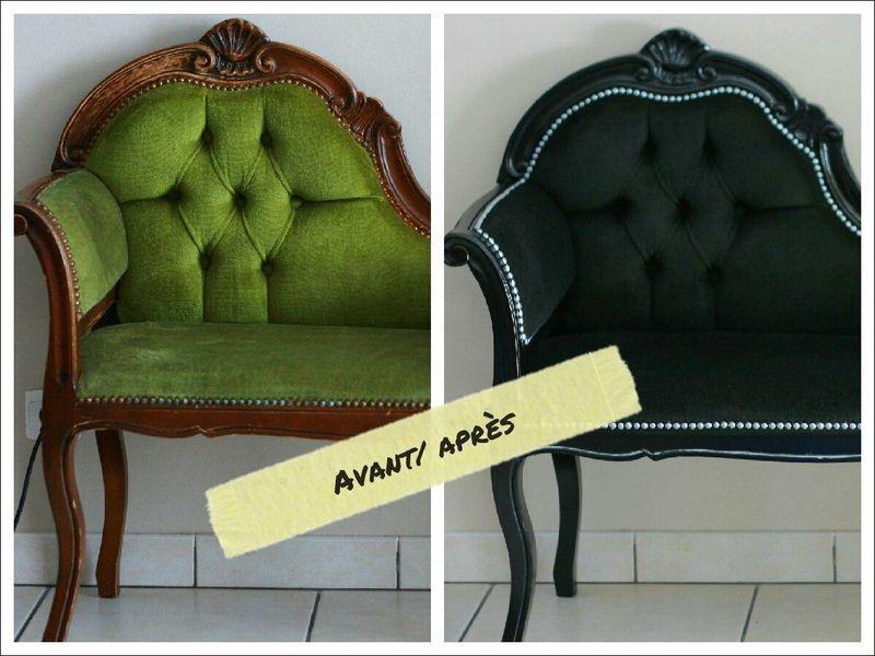 pingl par marie aubert sur fauteuil pinterest relooking fauteuils et meubles. Black Bedroom Furniture Sets. Home Design Ideas
