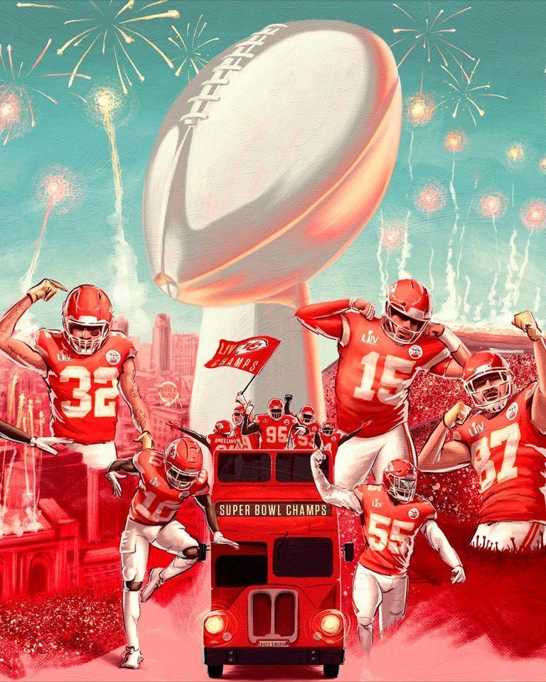 Kansas City Chiefs Super Bowl 2020 Custom Sport Flag In 2020 Kansas City Chiefs Chiefs Wallpaper Kansas City Chiefs Football