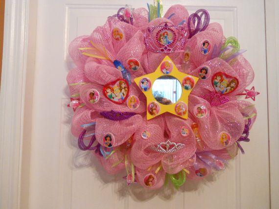Hey, I found this really awesome Etsy listing at https://www.etsy.com/listing/161429117/disney-princess-theme-wreath-princess