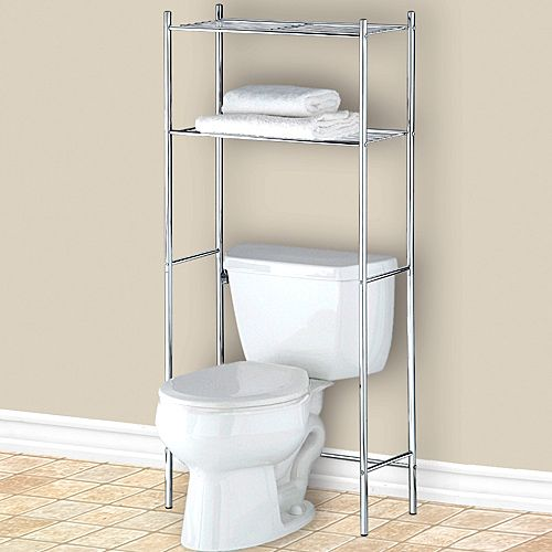 bathroom storage shelves over toilet