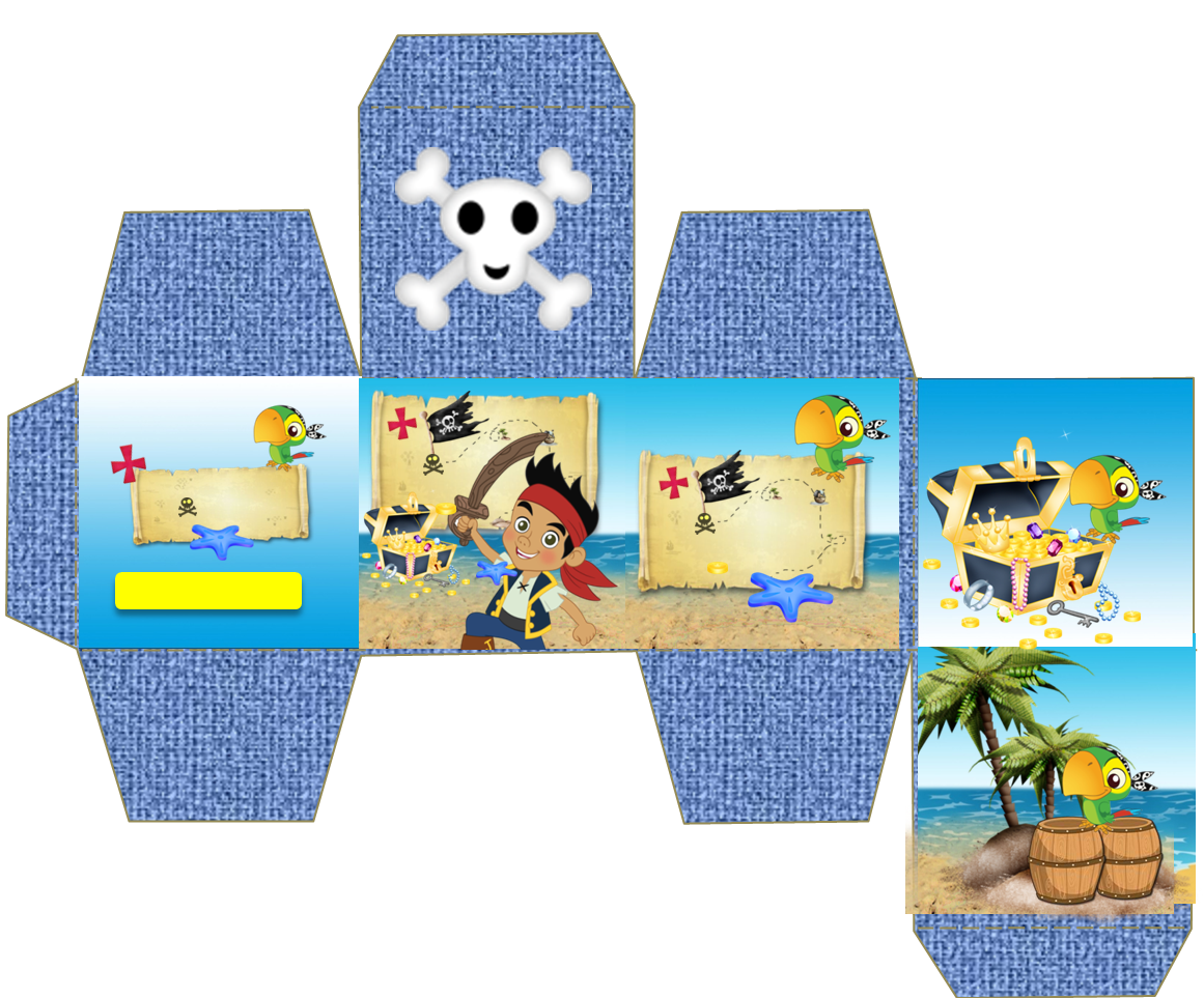 Decoraci n jake y los piratas de nunca jam s pictures to pin on - Jake And The Neverland Pirates Free Printable Mini Kit