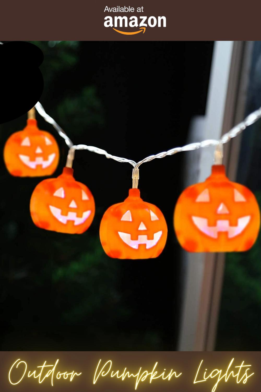 Halloween Outdoor Walkway Tree Lights Decoration Idea, Spooky Pumpkin For Bedroom Livingroom Idea