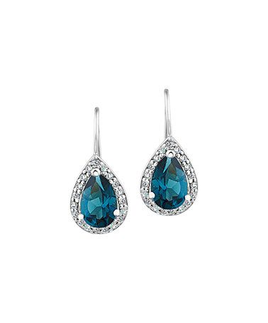 Another great find on #zulily! London Blue Topaz & Sterling Silver Drop Earrings #zulilyfinds