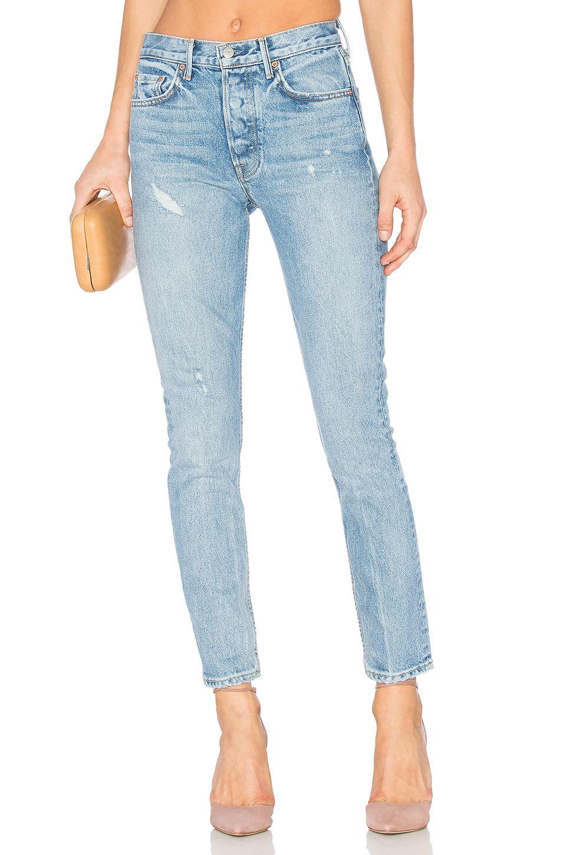 GRLFRND Karolina Customizable High-Rise Skinny Jean in Last Dance
