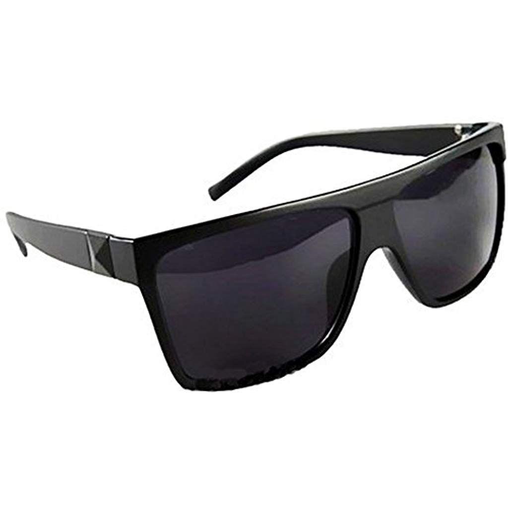 12d58a780f Rétro Mode carré Large Dessus Plat Aviator Lunettes de Soleil Noir #lunettes  #lunettesberlin #