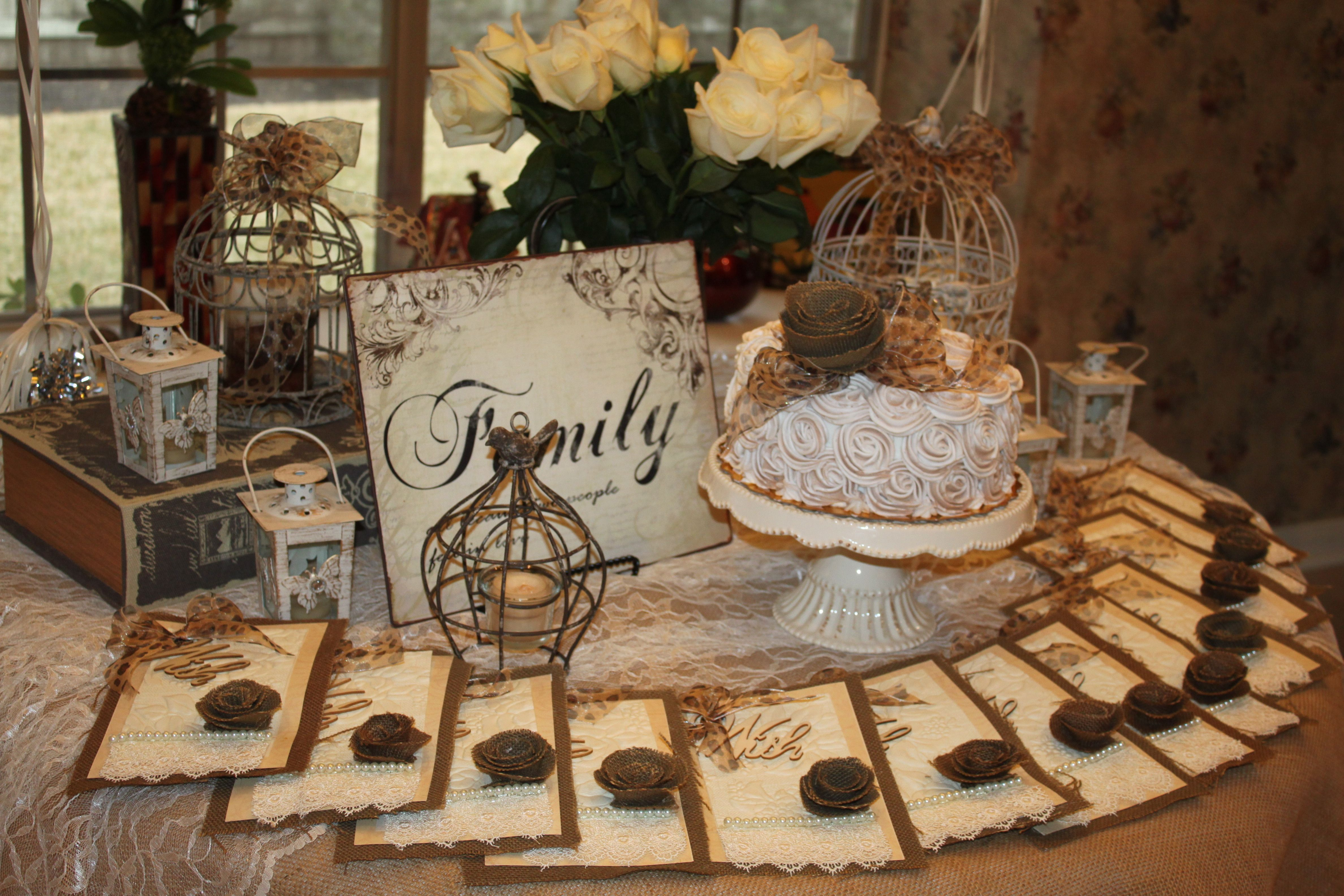 A vintage garden themed party for mom\'s 75th birthday | Theme ...