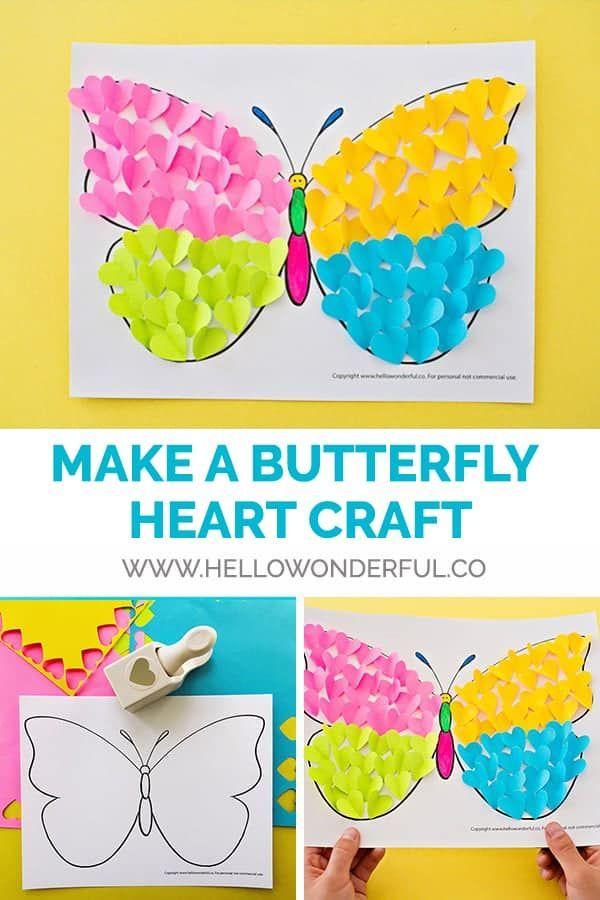 BUTTERFLY PAPER HEART CRAFT - Hello Wonderful