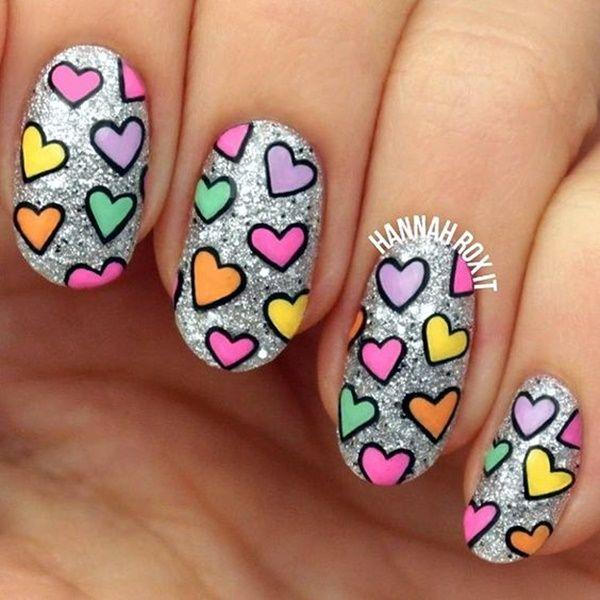 41 Romantic Valentines Week Nails Designs 2017 | Diseños de uñas ...