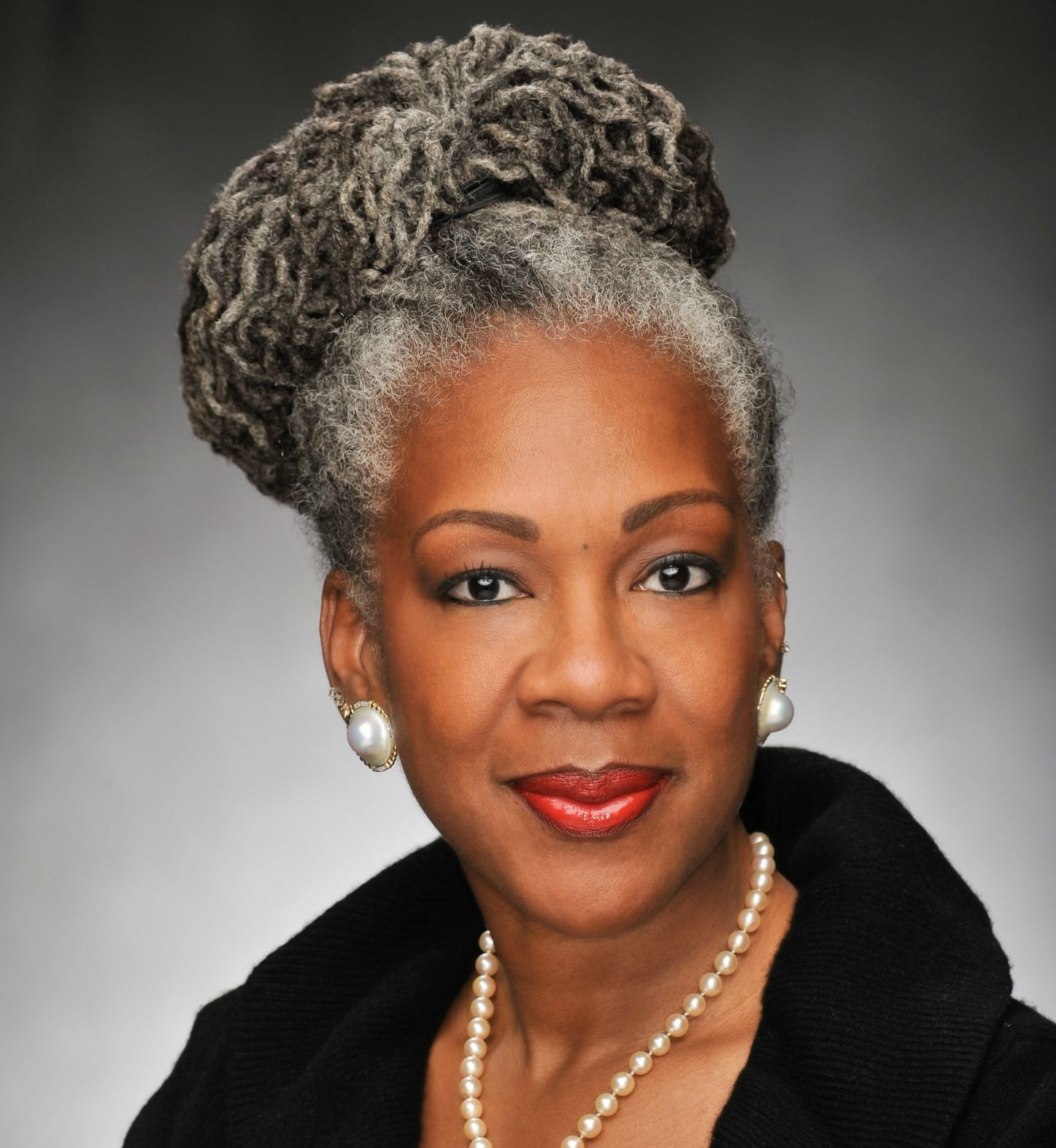 BlackAfrican American Women with Natural Gray Hair