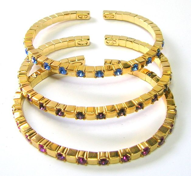 Vintage Bracelets – Vintage Joan Rivers Triple Bangle Set – a unique product by SwankyJewels on DaWanda