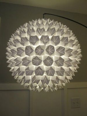 Boule chinoise origami paper shade