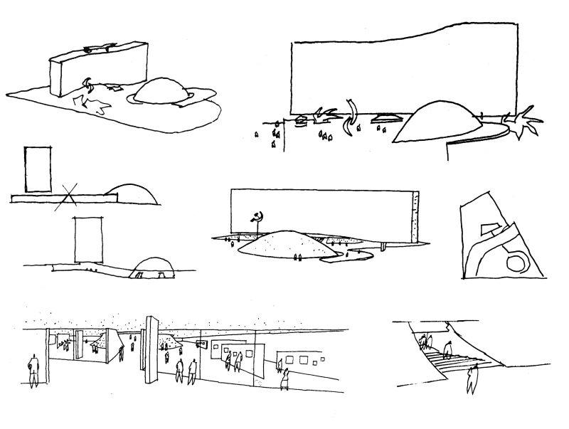 Niemeyer Oscar - siège du Parti Communiste Français à Paris - 1971 #Sketch #Architecture