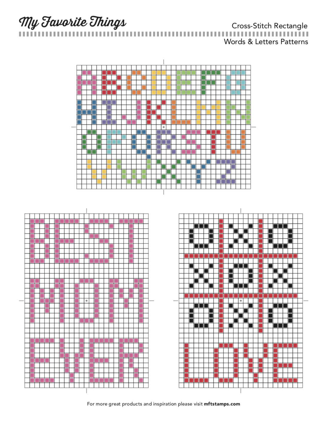 MFT Printable Resources | Cross-Stitch Printables | | Bordado ...