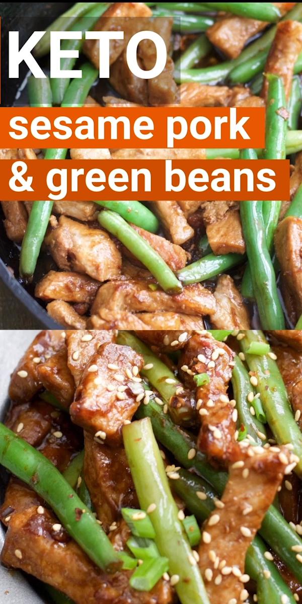 Photo of Keto Sesame Pork and Green Beans